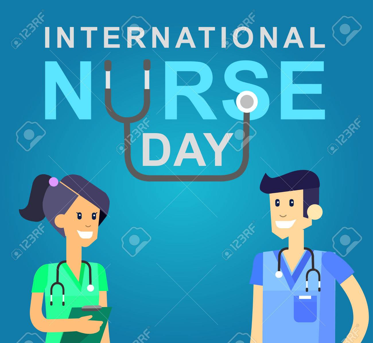 Vector illustration for International Nurse Day. Vector illustration for Nurse Day. Poster Nurse Day - 56196263