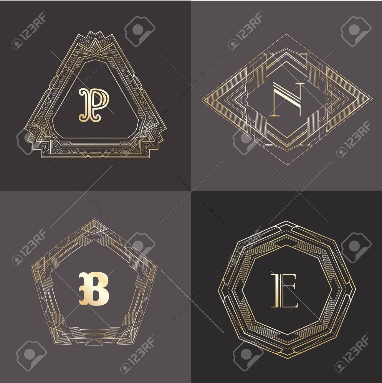 monogram template with calligraphic elegant ornament identity