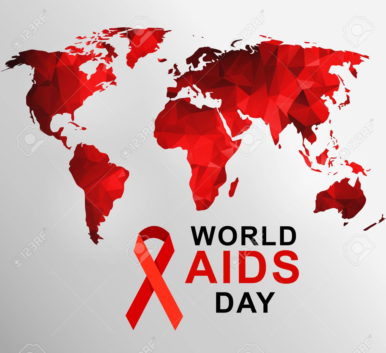World aids day 1st december world aids day poster with with vector world aids day 1st december world aids day poster with with red polygonal world map vector illustration gumiabroncs Choice Image