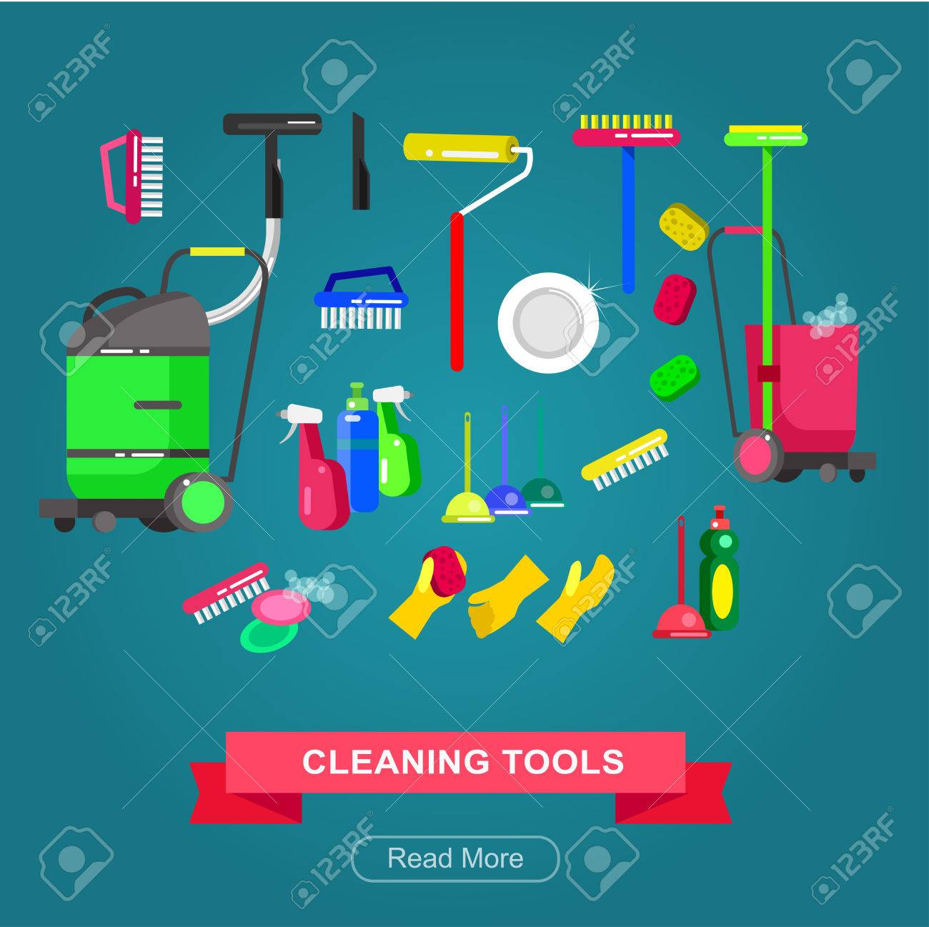 Poster design kit - Poster Design For Cleaning Service And Cleaning Supplies Vector Detailed Cleaning Kit Icons Vector