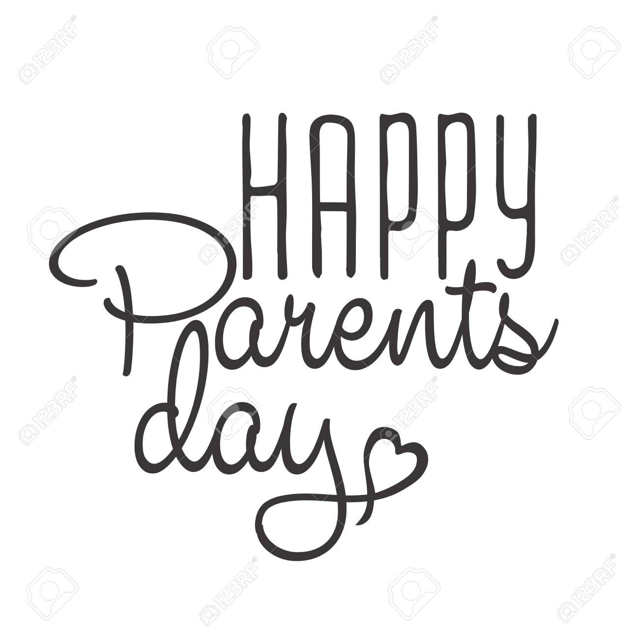 Happy Parents Day Background. Calligraphy Lettering Background Stock Vector    60150647