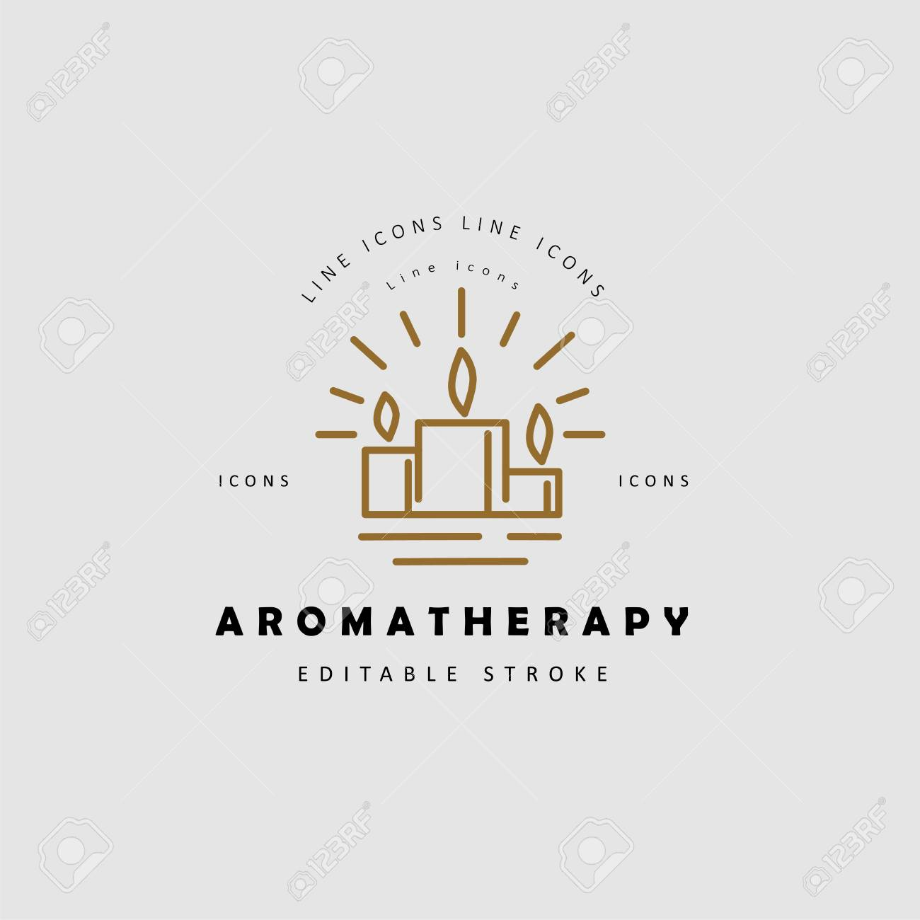 Vector Icon And Logo For Aromatherapy Editable Outline Stroke Royalty Free Cliparts Vectors And Stock Illustration Image 113854836