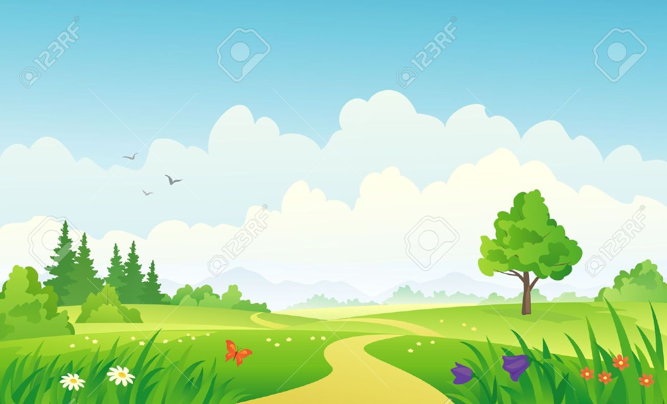 Cool Landscape Summer - 20242647-vector-illustration-of-a-summer-landscape-  Pictures_95238.jpg