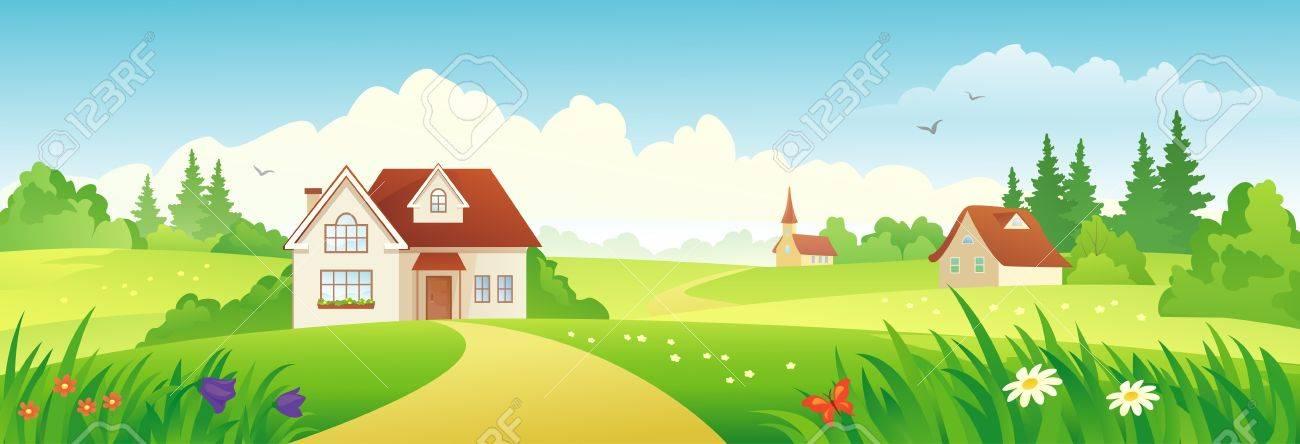 Vector beautiful landscape banner Stock Vector - 21653004
