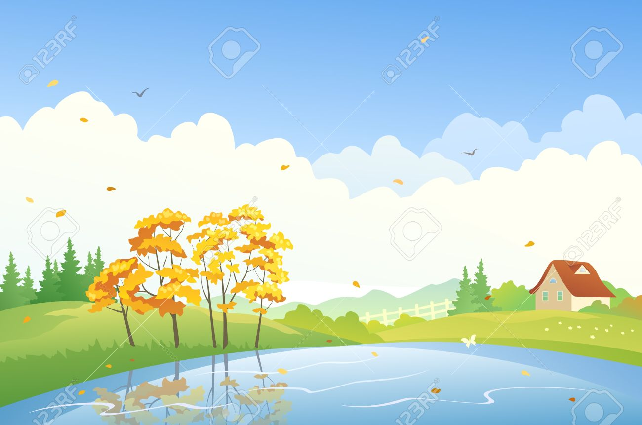 Vector illustration of a fall landscape Stock Vector - 21736151