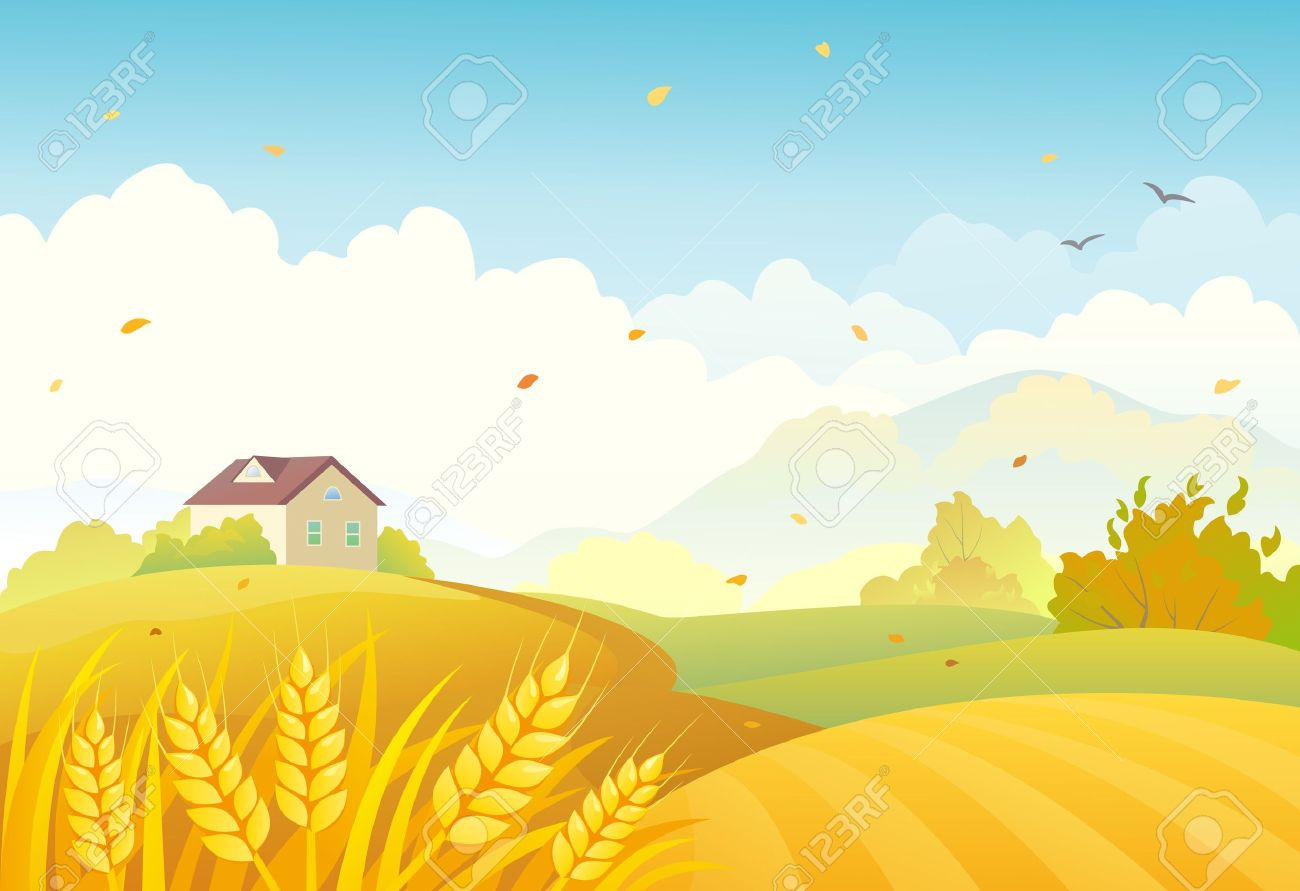 Vector Illustration Of An Autumn Farm Landscape Royalty Free ... for Farm Landscape Clip Art  166kxo