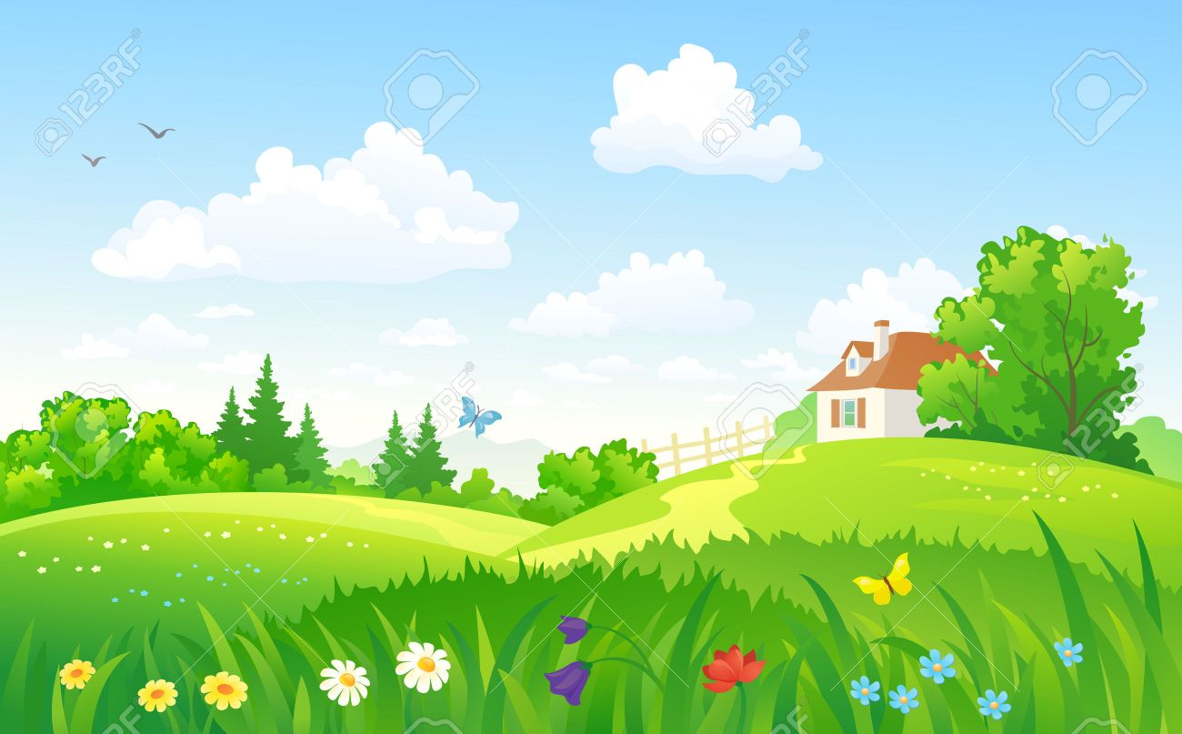 Download Landscape Summer - 40233958-vector-illustration-of-a-summer-landscape-with-a-home  Pic_416452.jpg