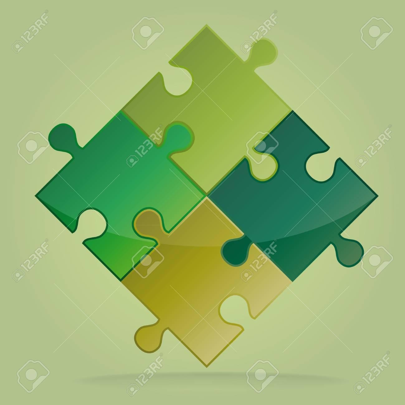 creative 3D puzzle background Stock Photo - 14766269