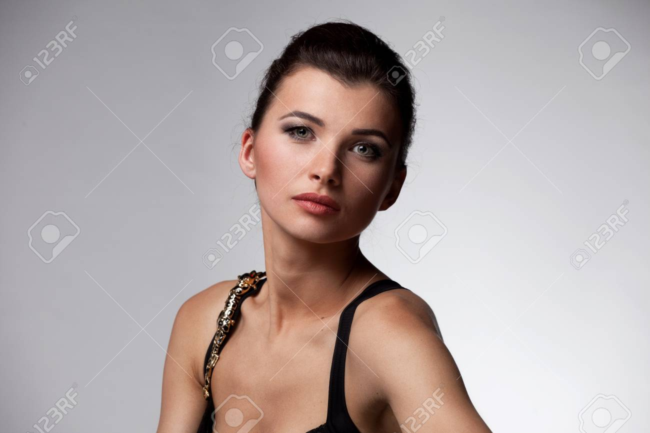 Portrait of luxury woman in exclusive jewelry on natural background Stock Photo - 14244002