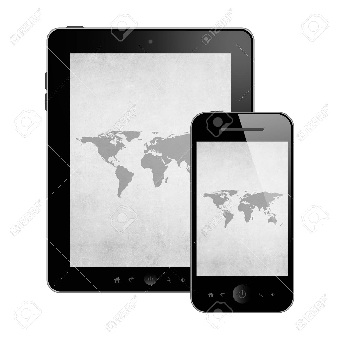 Mobile phone and tablet pc Stock Photo - 25093986