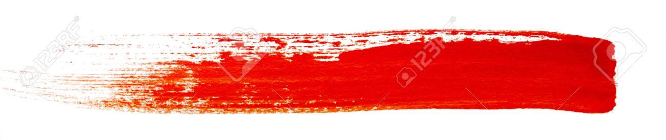 Strokes De Peinture Rouge Isole Sur Fond Blanc Banque D Images Et Photos Libres De Droits Image 37738037
