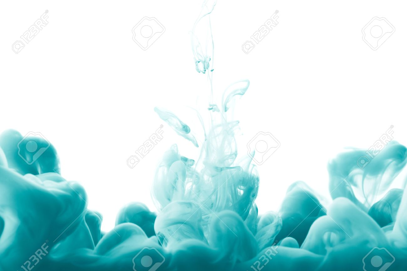 Abstract splash of blue paint isolated on white background - 40642860