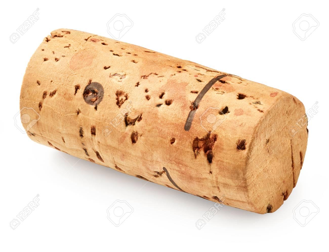 Wine cork isolated on white background - 63935557