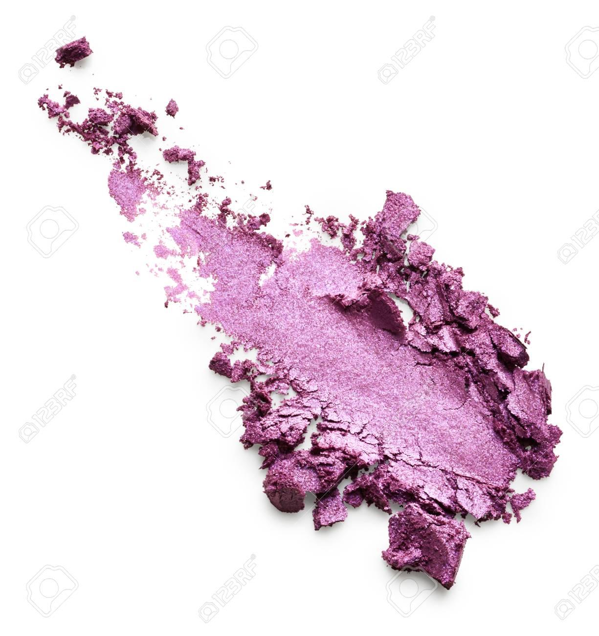 Purple eye shadow isolated on white background - 67391502