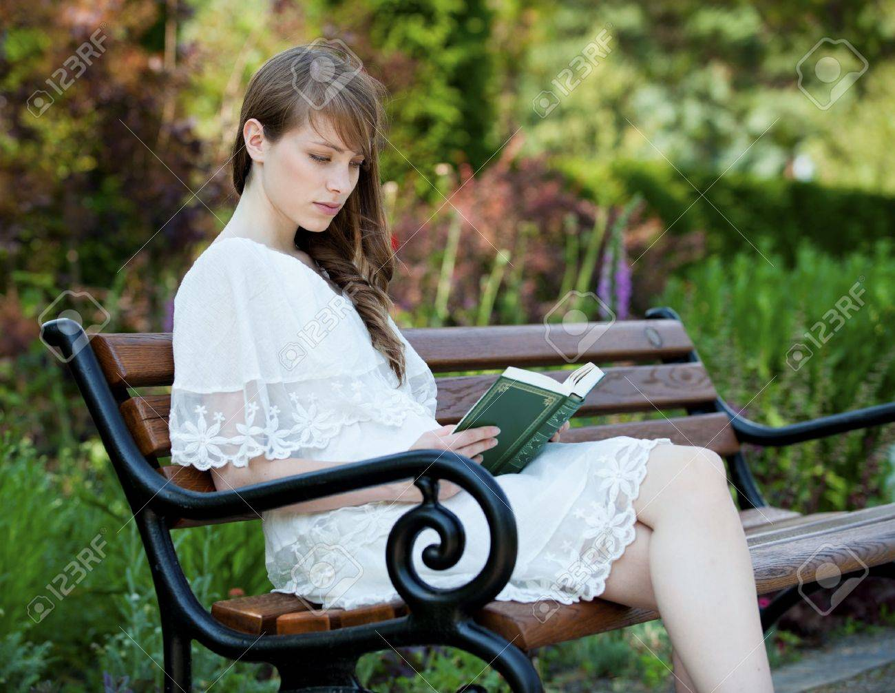 A young, beautiful lady enjoys the afternoon Stock Photo - 10392014