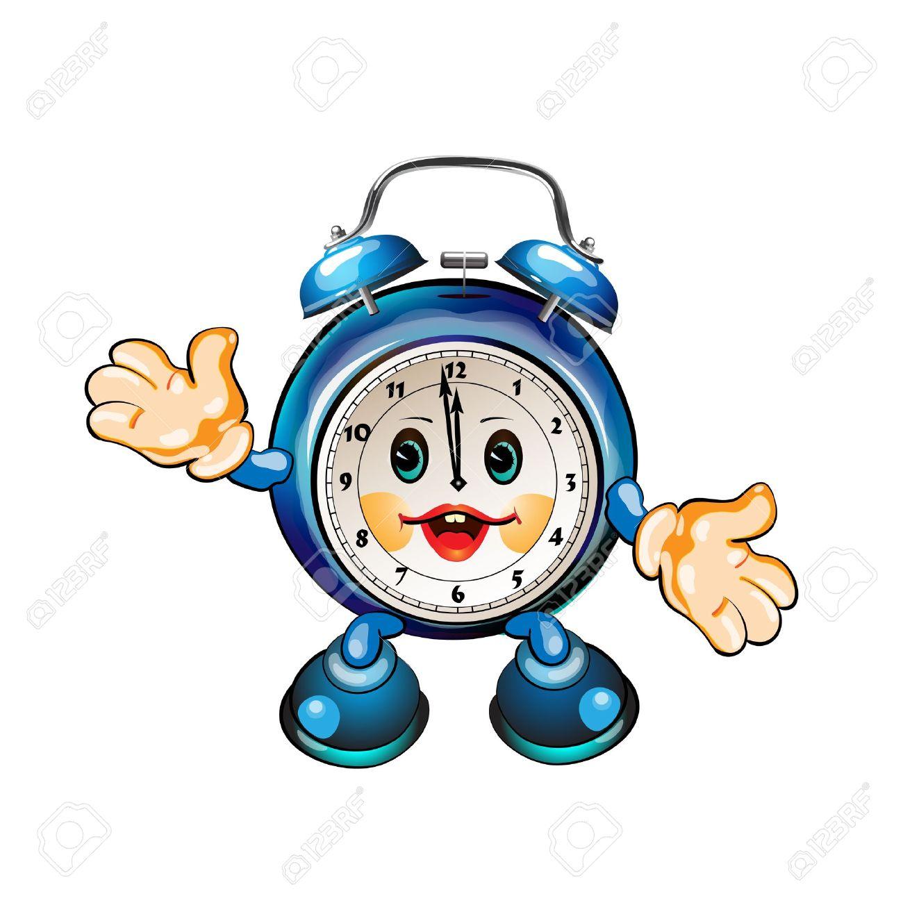 cute cartoon clock Stock Vector - 8803833