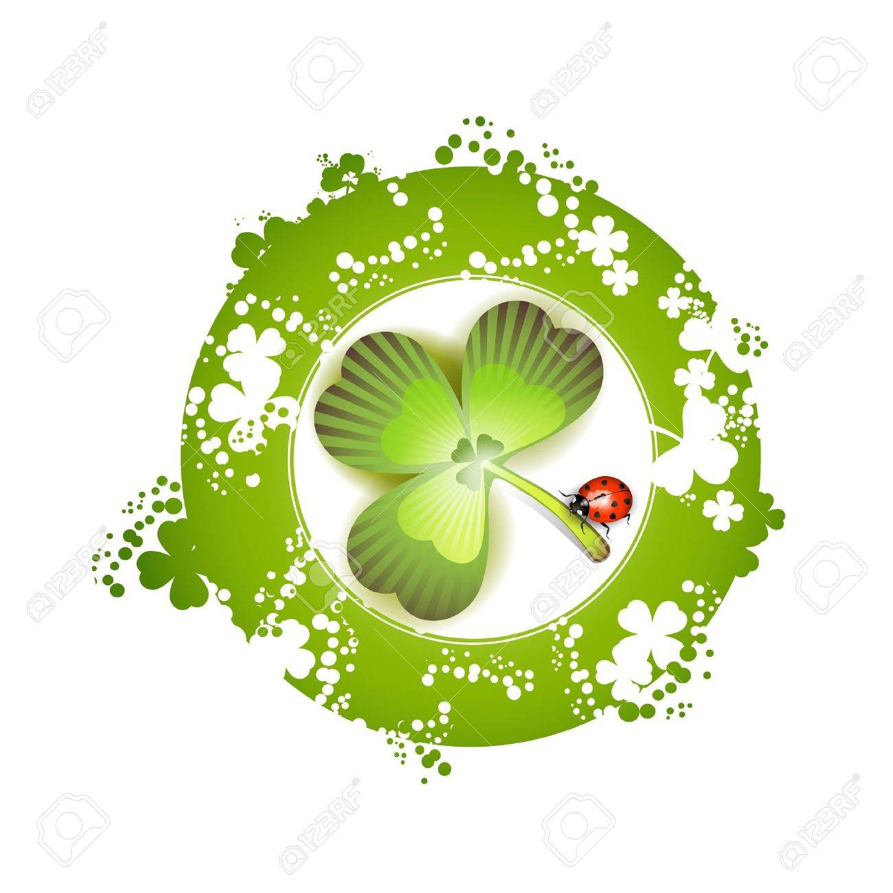 Clover and ladybug for St. Patrick's Day Stock Vector - 9100243