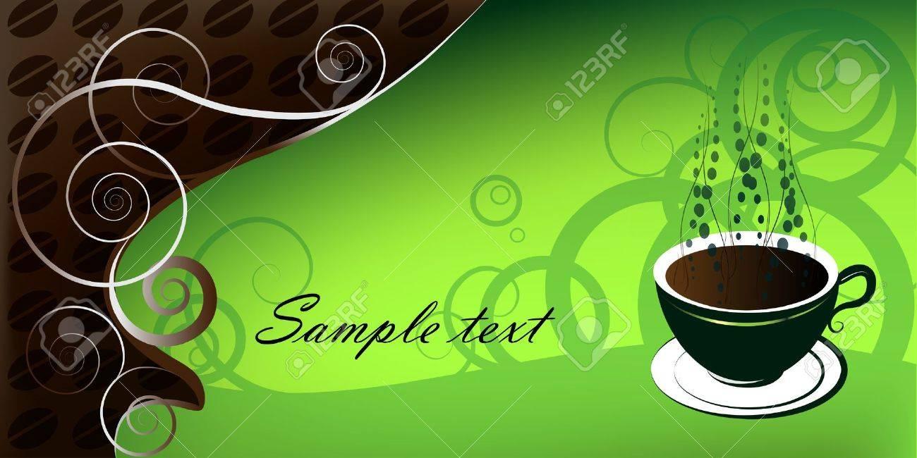 Cafe fondo verde