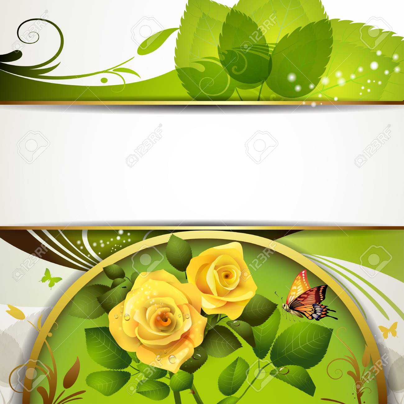 Colorful background with roses Stock Vector - 13727472