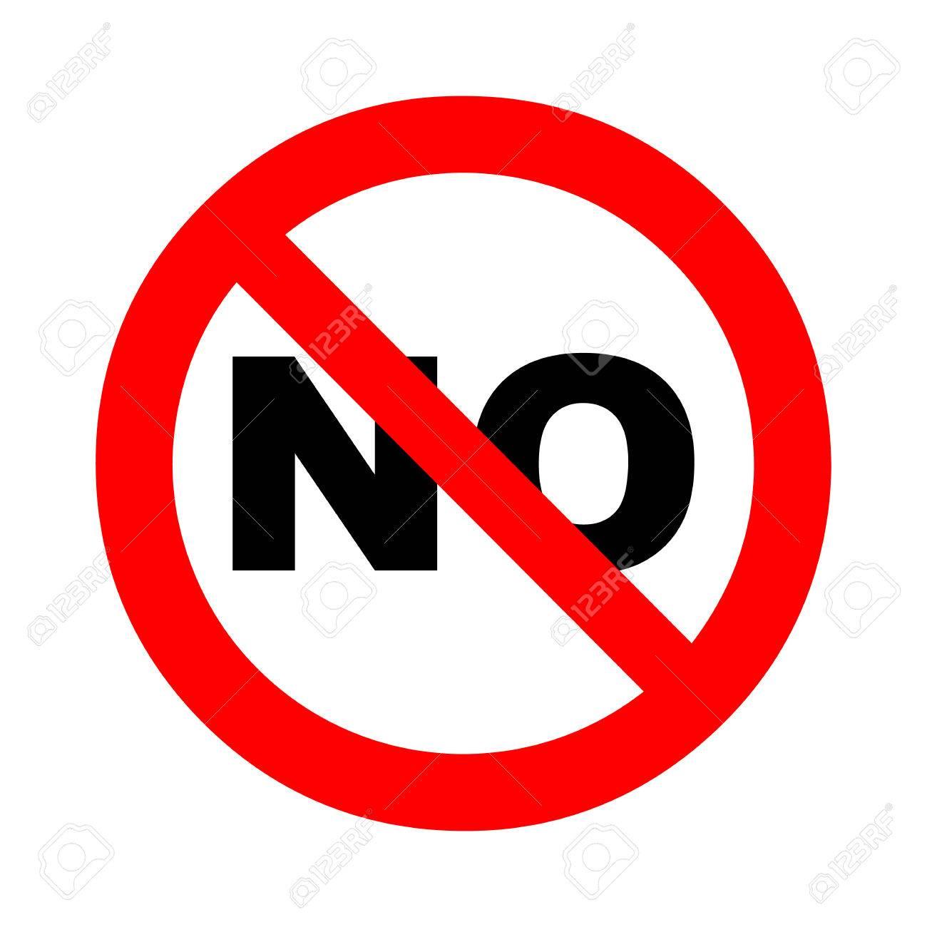 Prohibición, Signo Prohibido. Plantilla De Símbolo De Advertencia ...