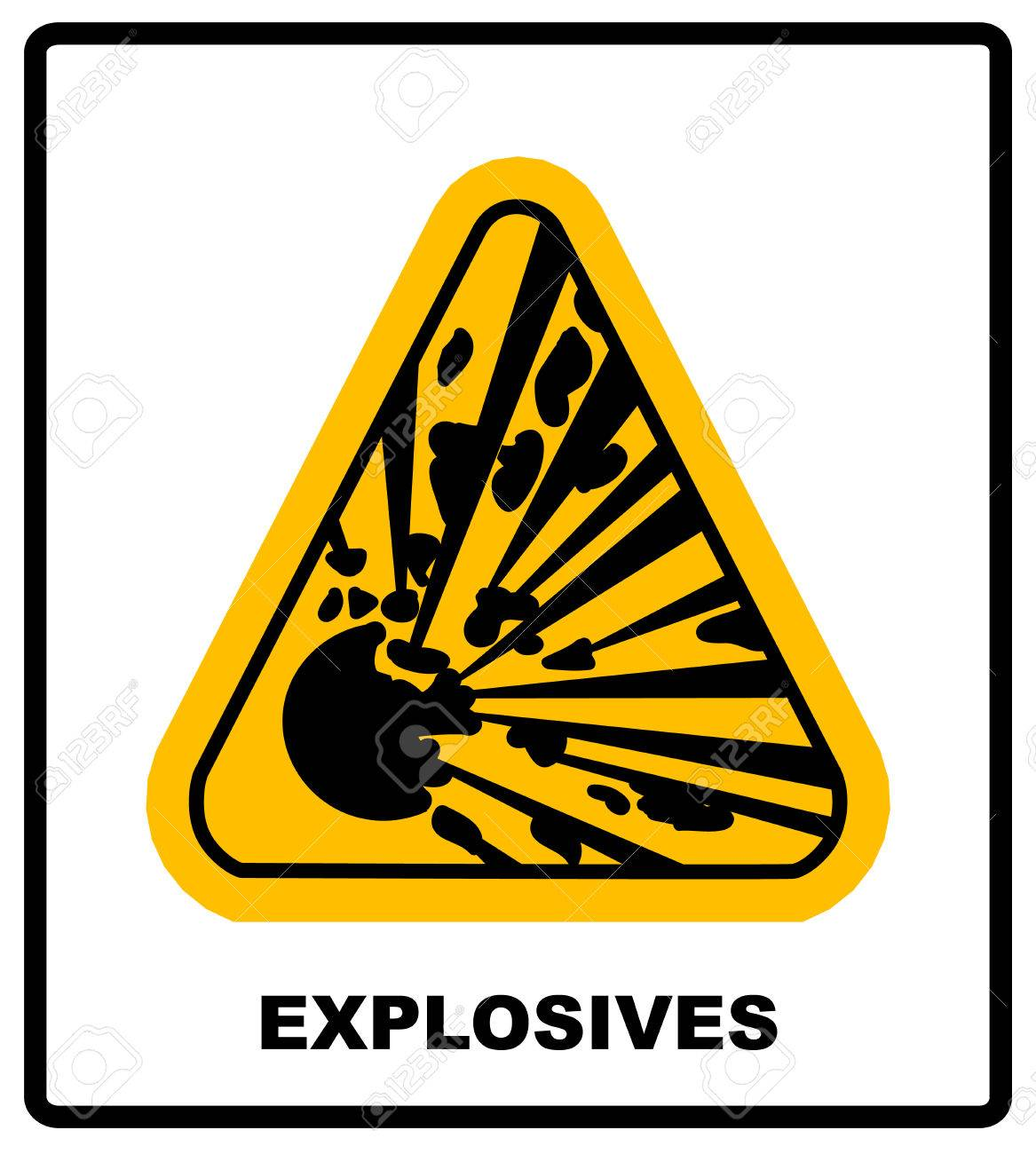 Symbol Of The Explosion In The Yellow Triangle Danger Informational
