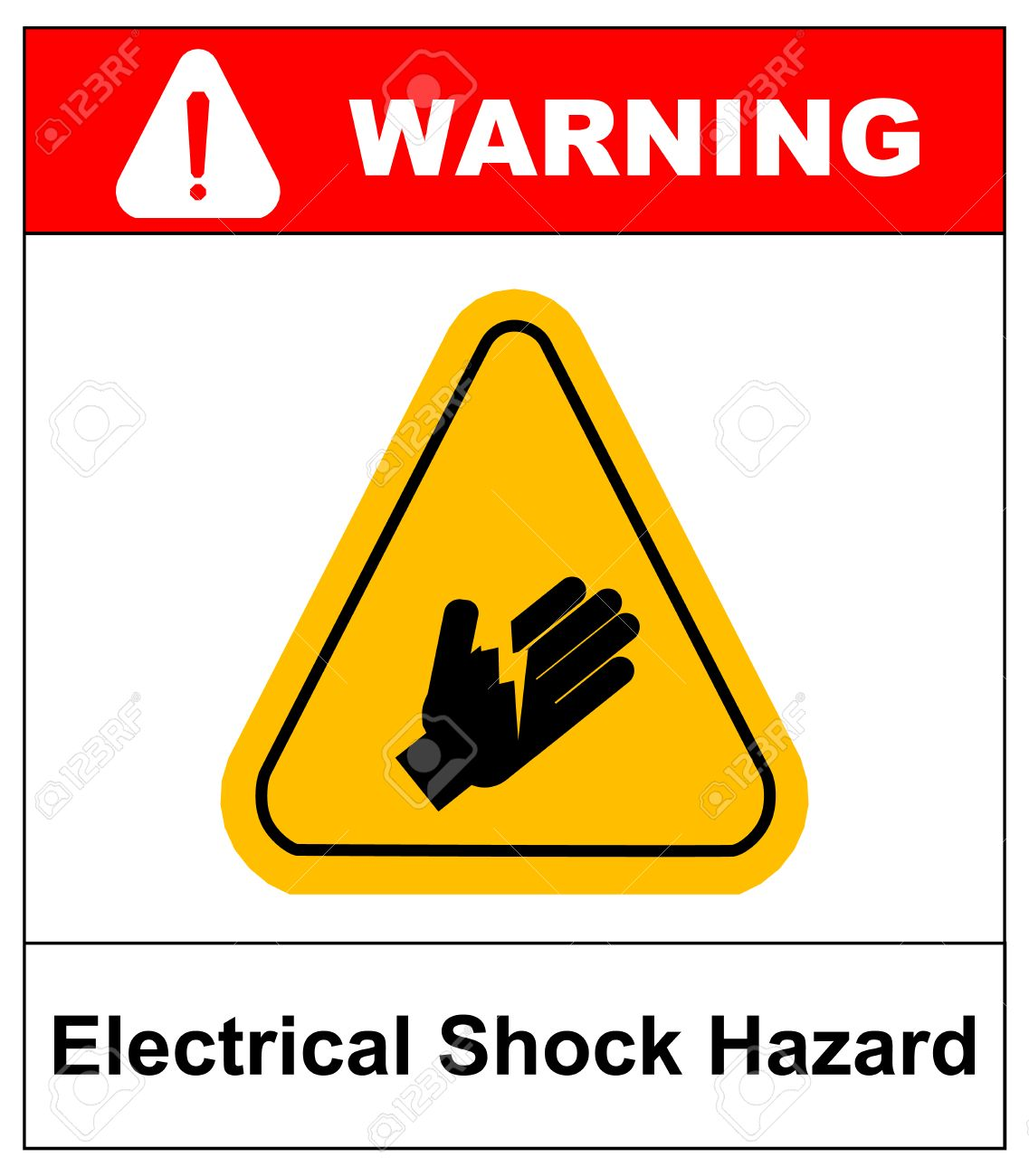 Warning electrical shock hazard banner high voltage sign or warning electrical shock hazard banner high voltage sign or electrical safety symbol danger electric fence keep biocorpaavc Image collections