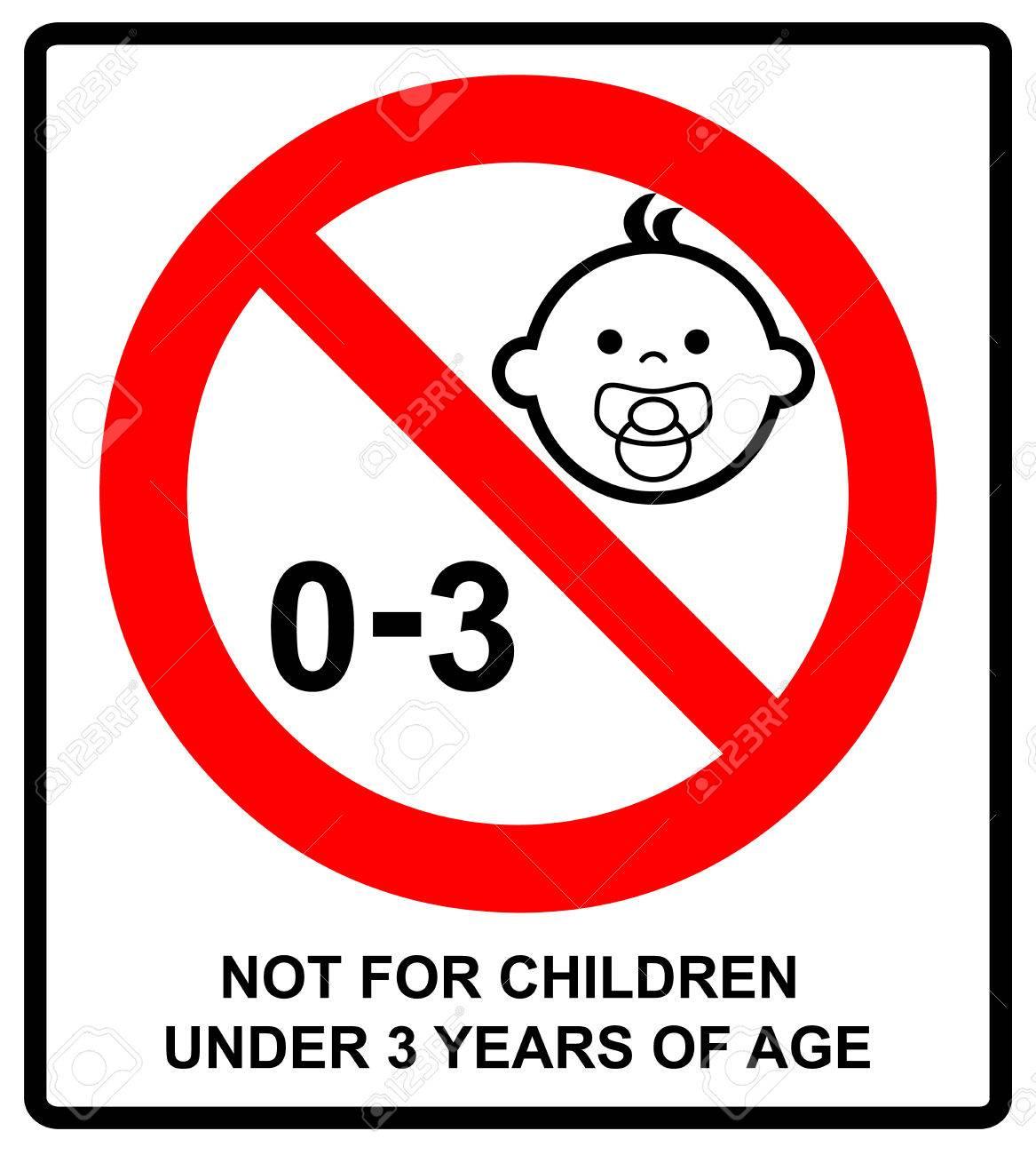 Ilustración Vectorial No Adecuado Para Niños Menores De 3
