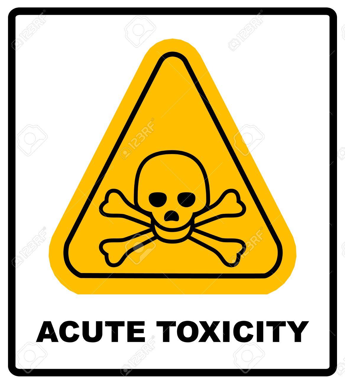 Hazard Pictogram Acute Toxicity Hazard Symbol Vector Banner