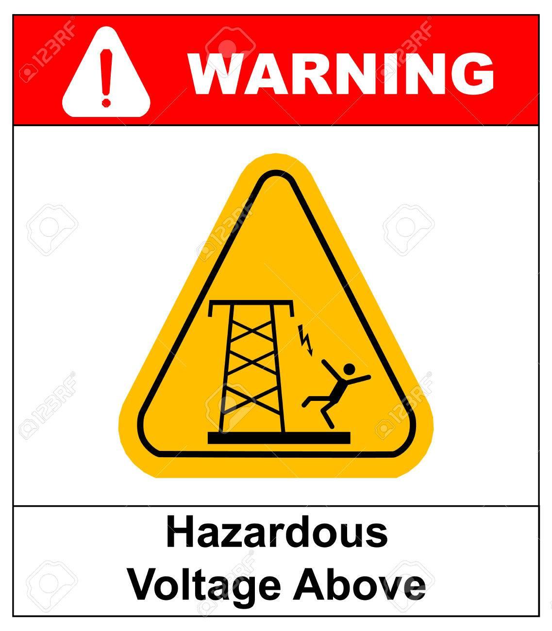 Gefährliche Spannung Oben. Freileitungen Oder Elektrische ...