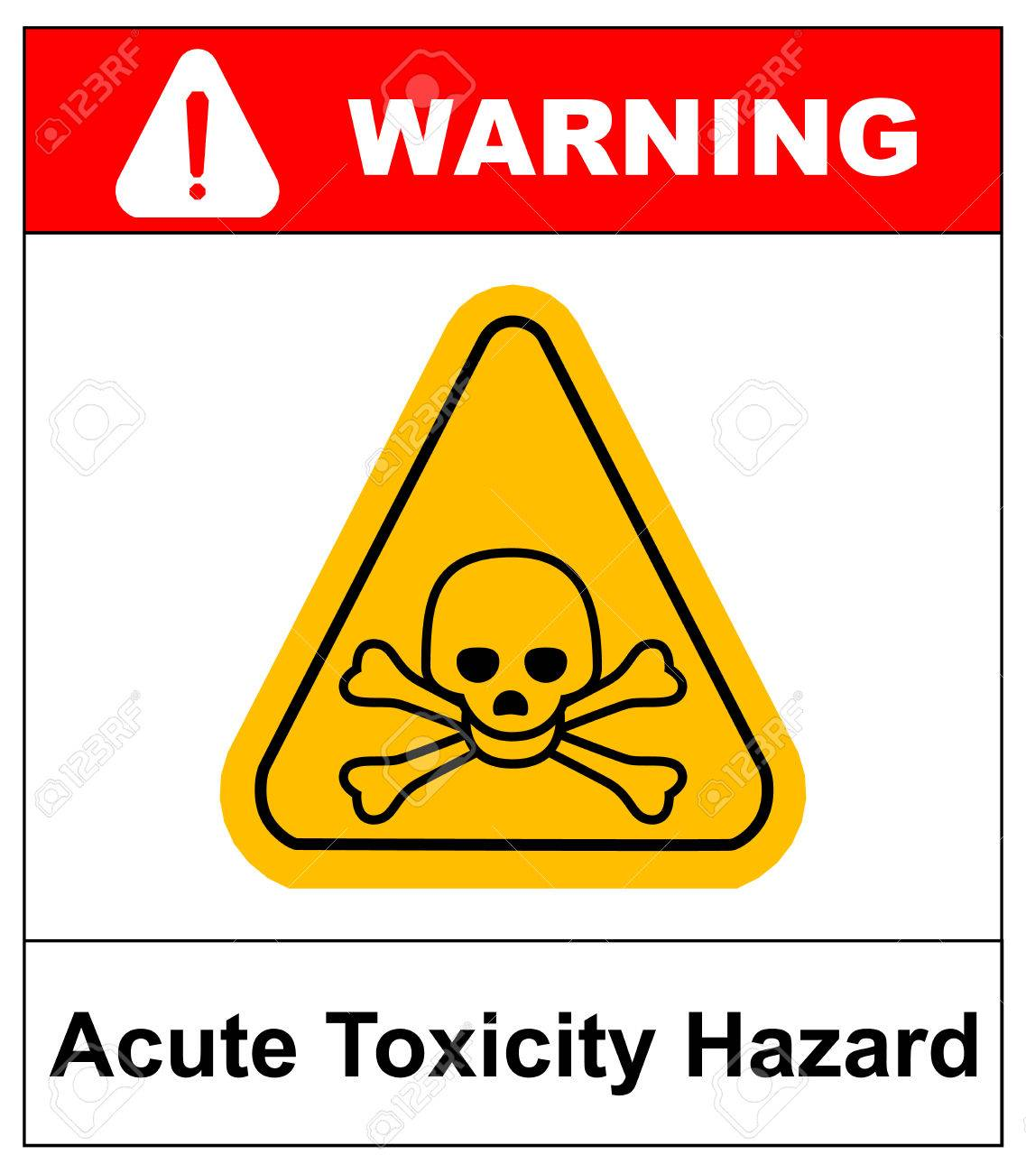 Hazard pictogram acute toxicity hazard symbol vector banner for hazard pictogram acute toxicity hazard symbol vector banner for industrial yellow triangle isolated biocorpaavc Gallery