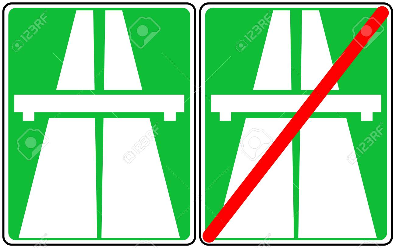 Vector illustration of green freeway signs traffic symbol end vector illustration of green freeway signs traffic symbol end of speed road vector buycottarizona Image collections