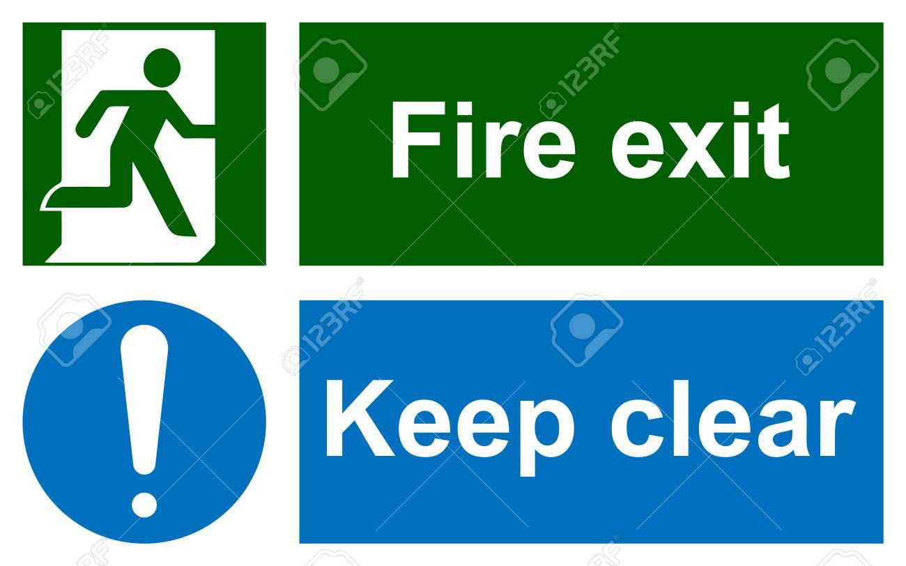 Emergency exit sign clip art political map of saudi arabia green emergency exit sign on white and keep clear sign 69111718 green emergency exit sign on white and keep clear sign information mandatory symbol in blue buycottarizona Images