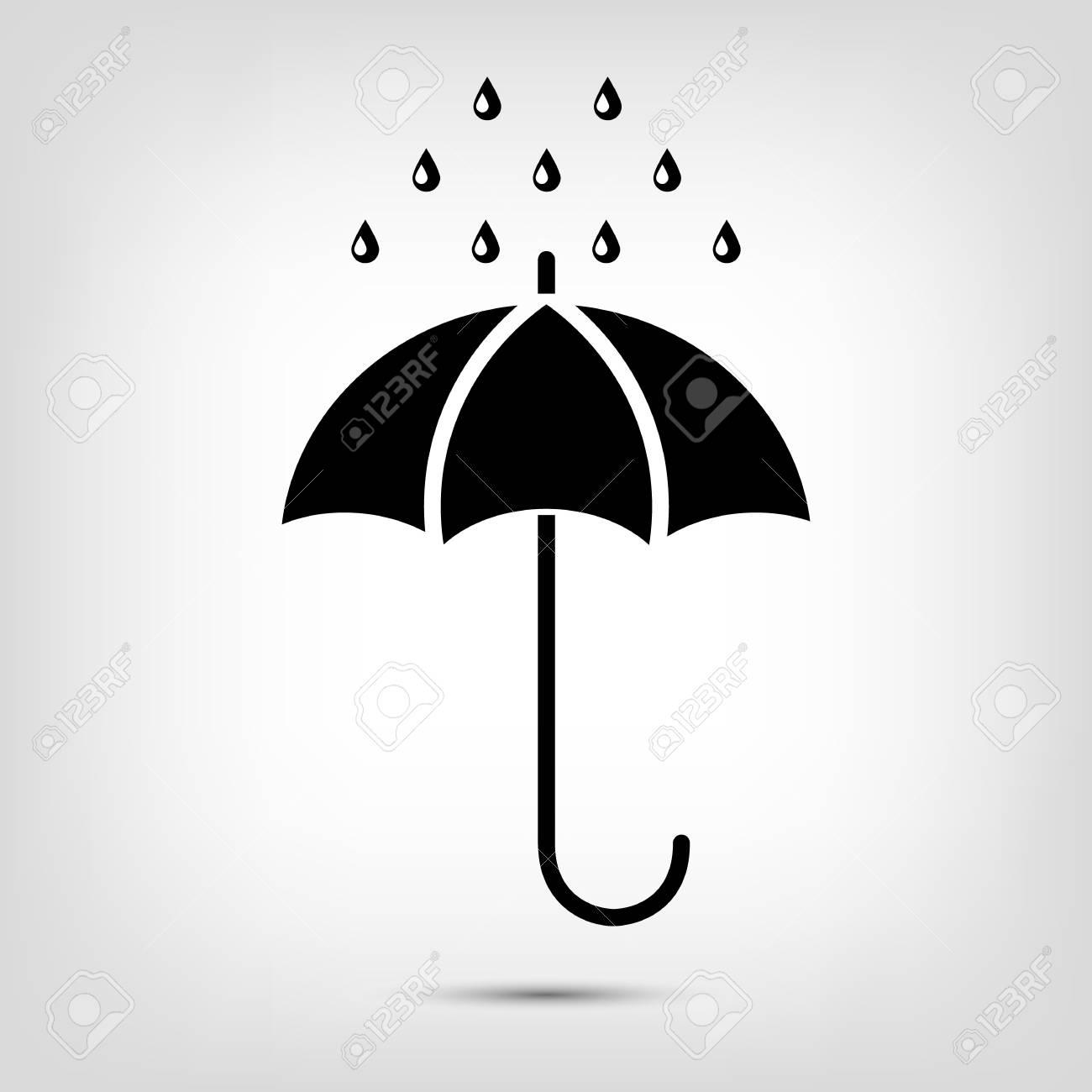 Paraguas Con Gotas De Agua Símbolo De Protección De Lluvia Sombrillas Mojadas Ilustración Vectorial Ilustraciones Vectoriales Clip Art Vectorizado Libre De Derechos Image 69777618