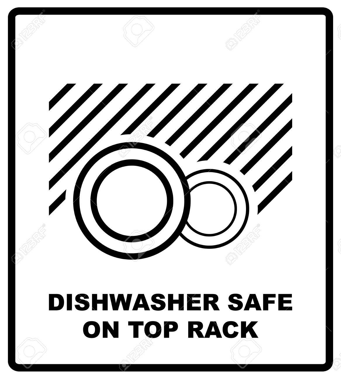 Dishwasher safe on top rack symbol isolated dishwasher safe sign dishwasher safe on top rack symbol isolated dishwasher safe sign isolated vector illustration biocorpaavc Images