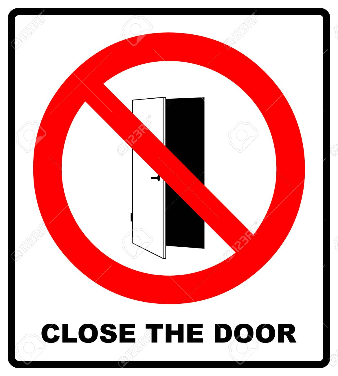 Close The Door >> Close The Door Sign Keep This Door Closed Icon Vector Illustration