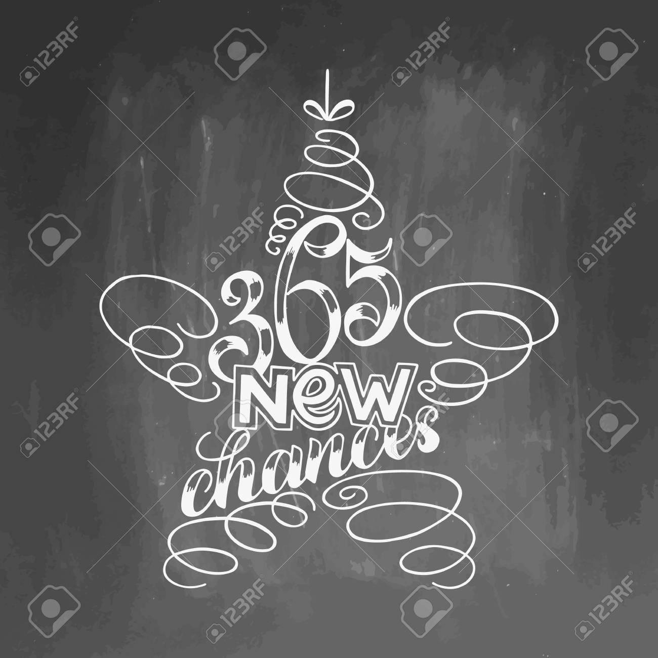 365 Nuevas Oportunidades Con Letras Enmarcadas En Juguete De árbol ...