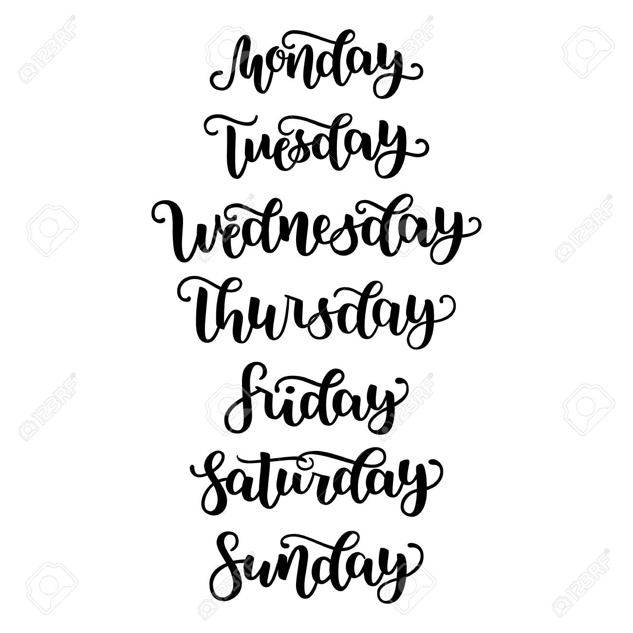 ac6c3e46f8 Hand Lettering Days Of Week Sunday