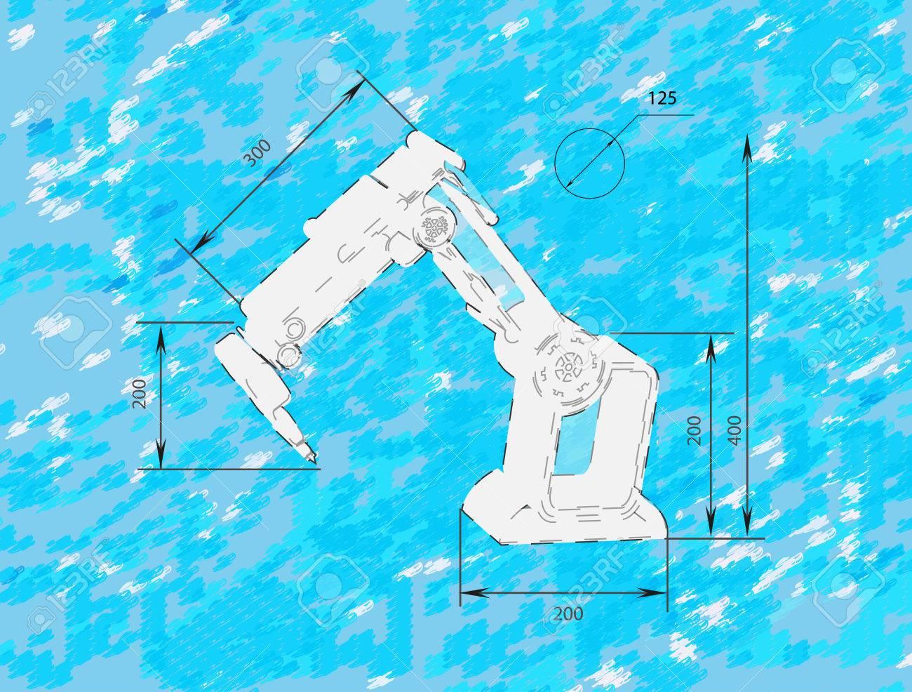 Robotics Sketch Royalty Free Cliparts Vectors And Stock