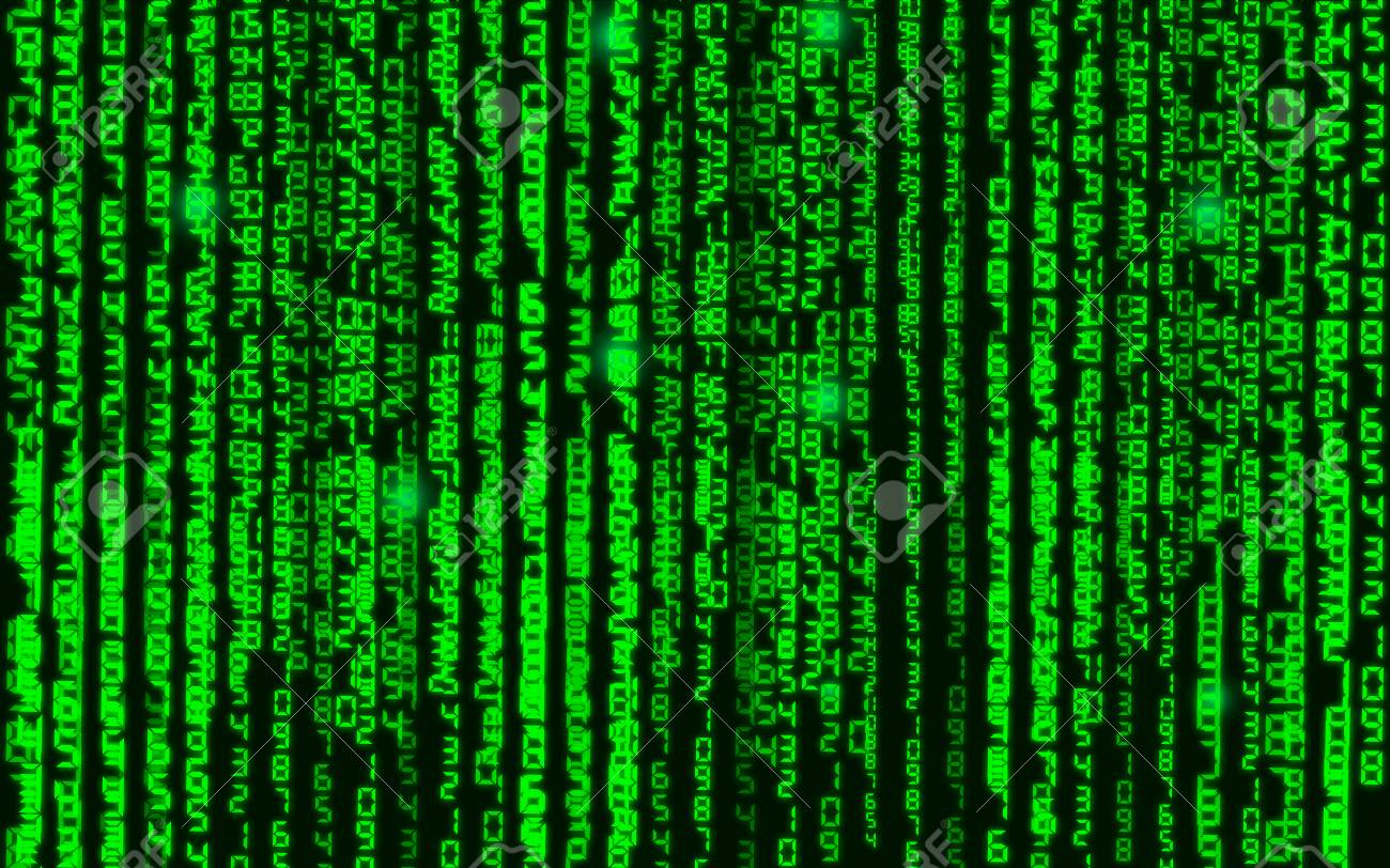 Vector streaming binary code background  Data and technology,