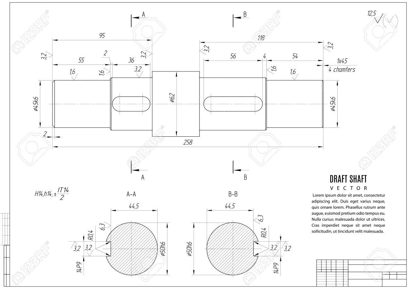 Dibujo Técnico El Proyecto De Construcción Con Estructura Horizontal En El Fondo Blanco Ilustración Común Del Vector Eps10