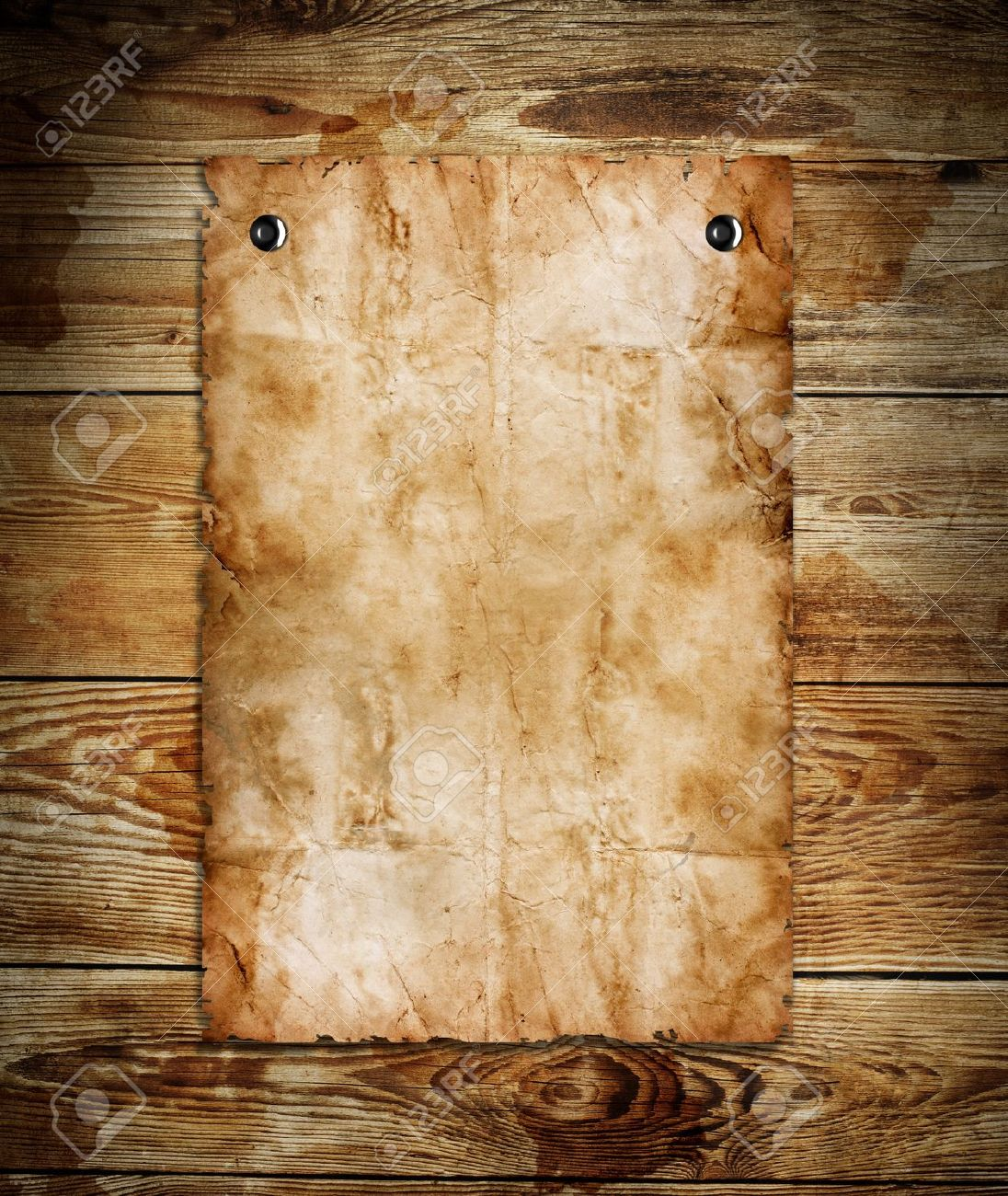 old paper on the wood background stock photo picture and royalty
