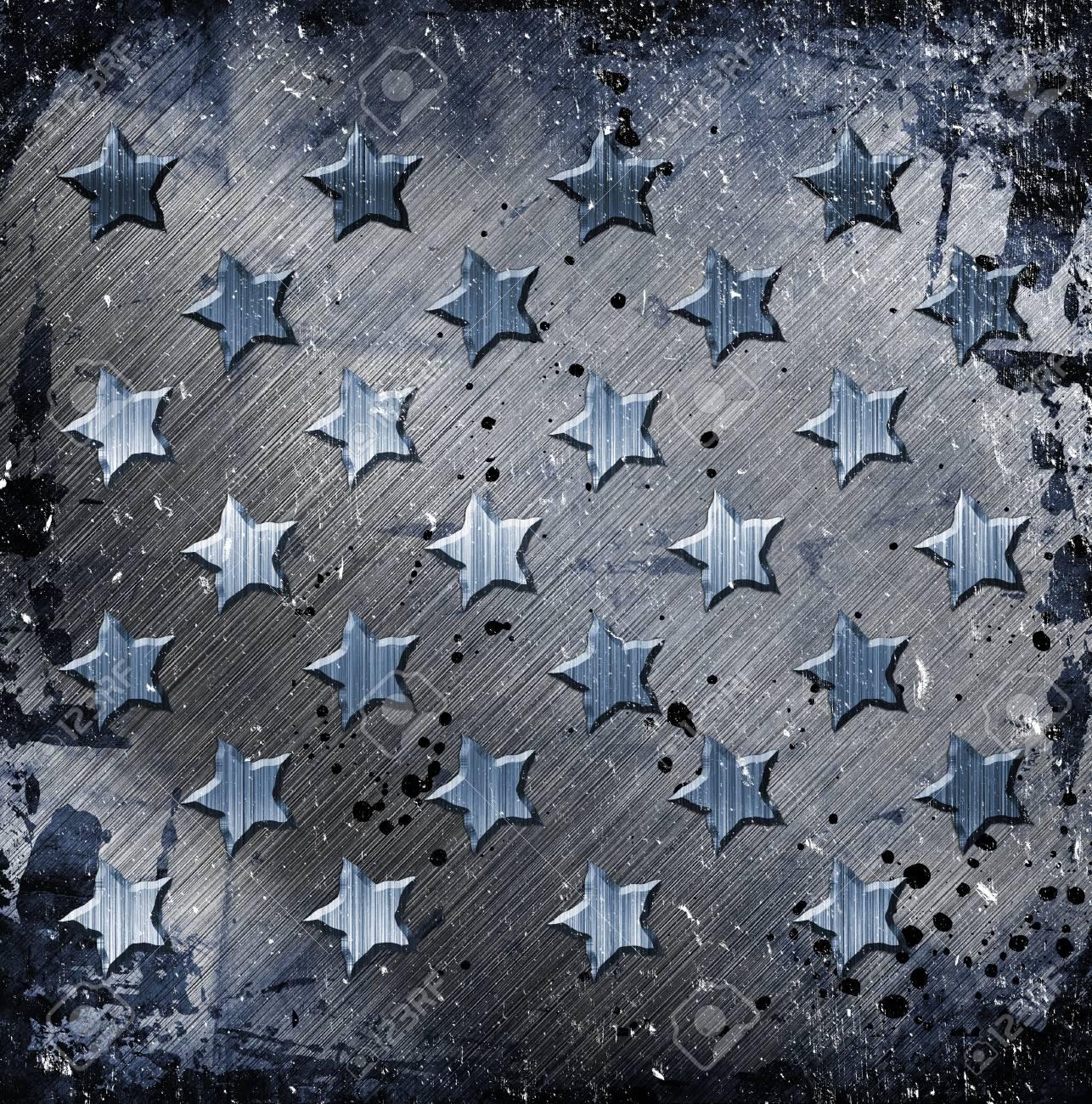 Military Grunge With Stars Stock Photo - 14669622