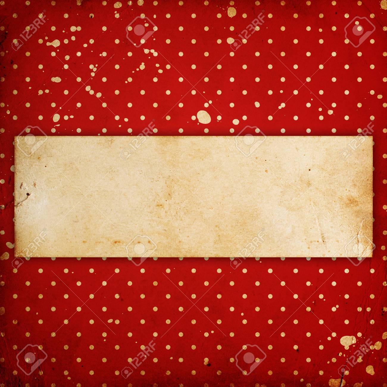 vintage dotted background with place for text Stock Photo - 14674300