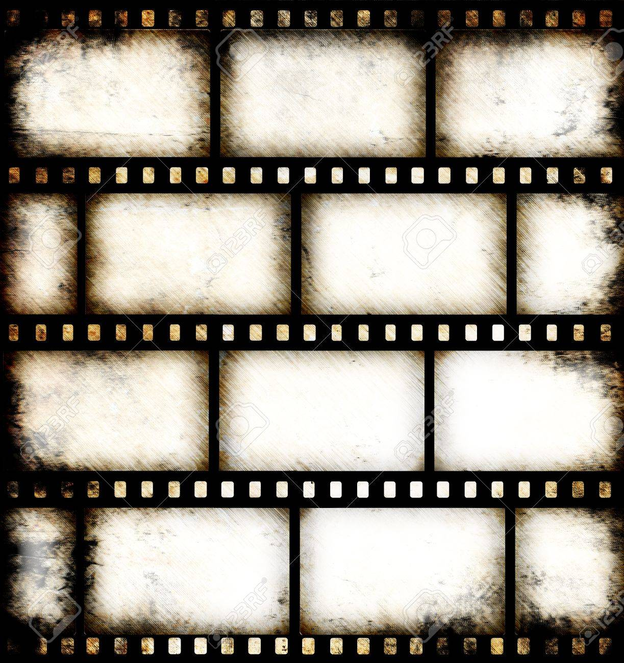 Vintage Background With Film Flame Stock Photo, Picture And ...