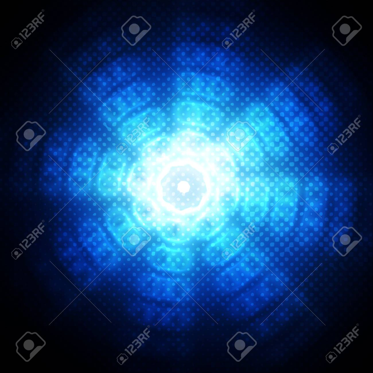 Abstract circles on blue background Stock Photo - 15665061