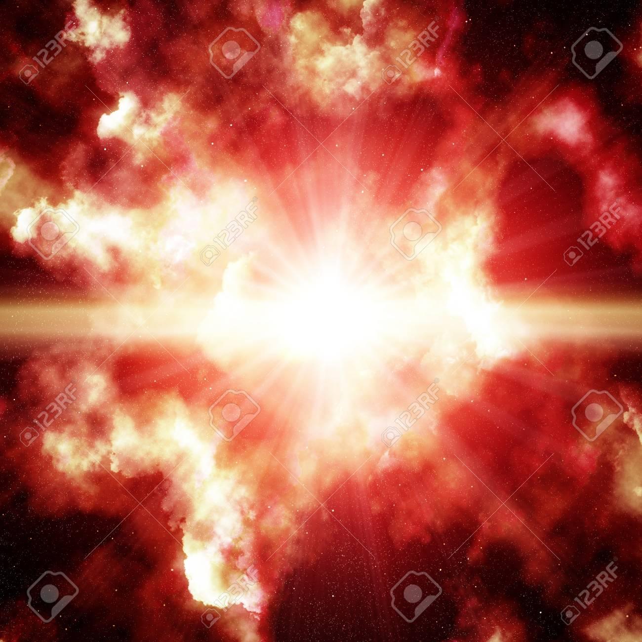 Colorful space nebula Stock Photo - 16624778