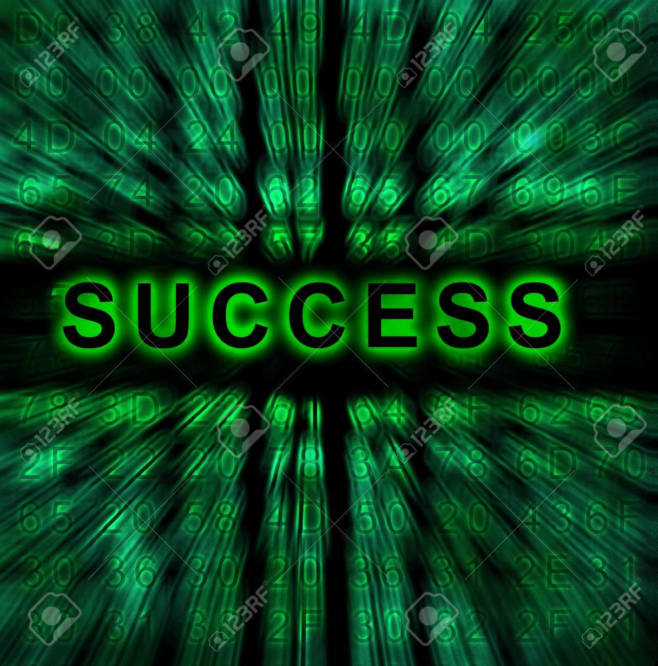 word Success on digital background Stock Photo - 18192468