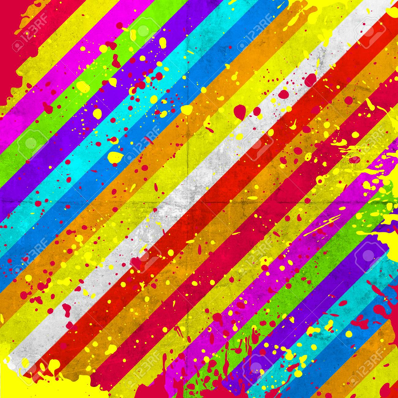 grunge background with color stripe Stock Photo - 18744242