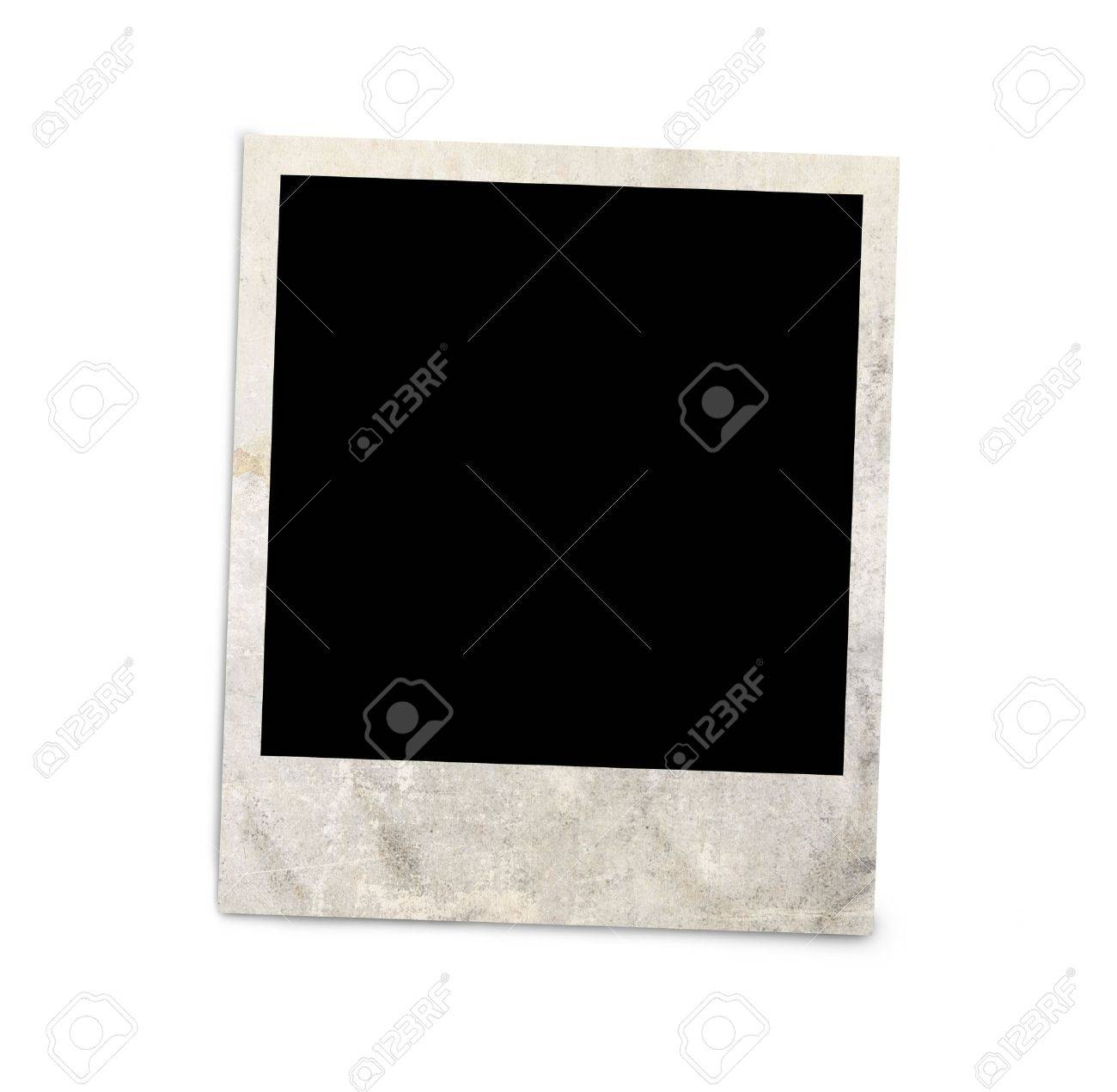 Blank photo frame isolated on white background, with clipping path Stock Photo - 19345137