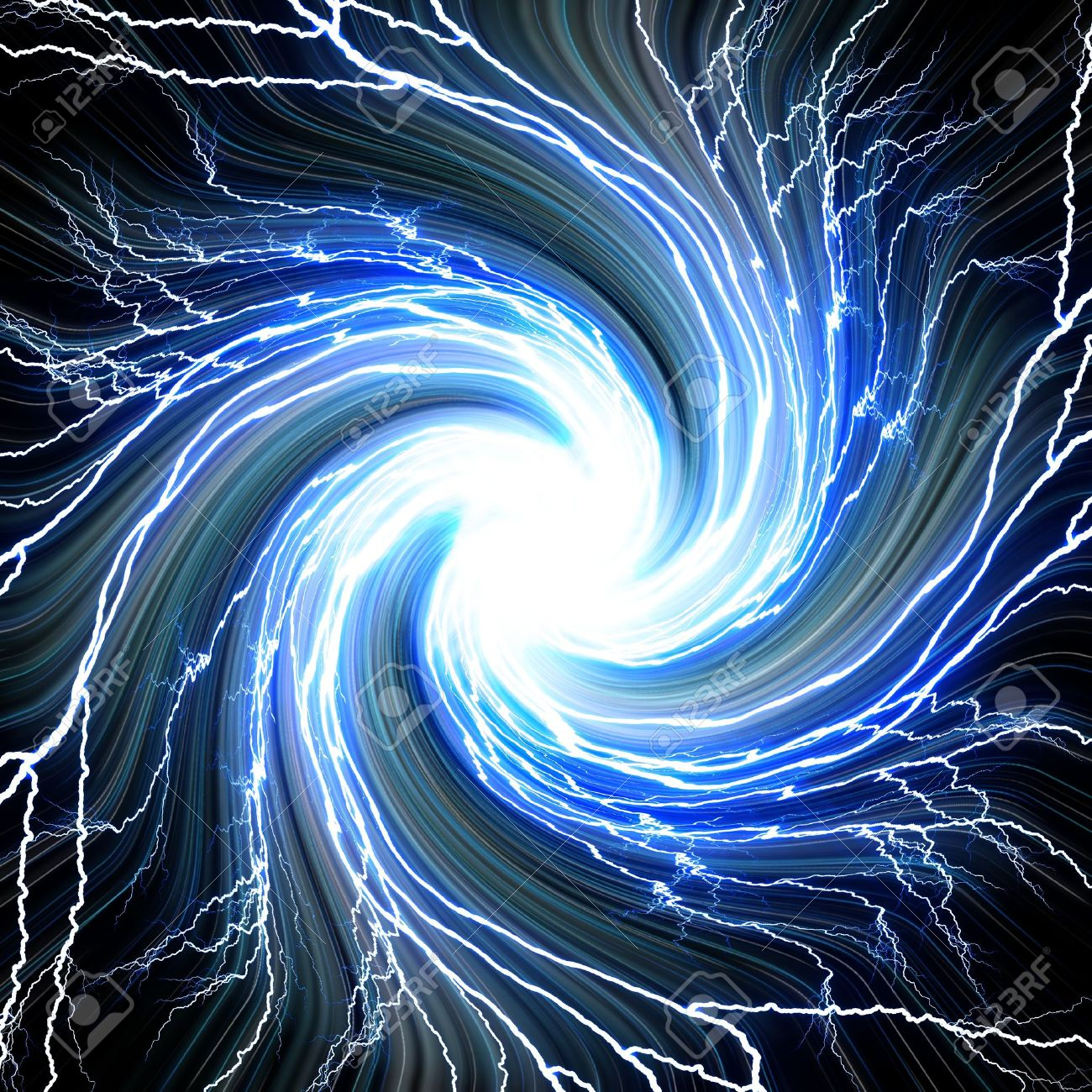 Electric Flash Of Lightning On A Blue Background Stock Photo ... for Electricity Lightning Bolt  54lyp
